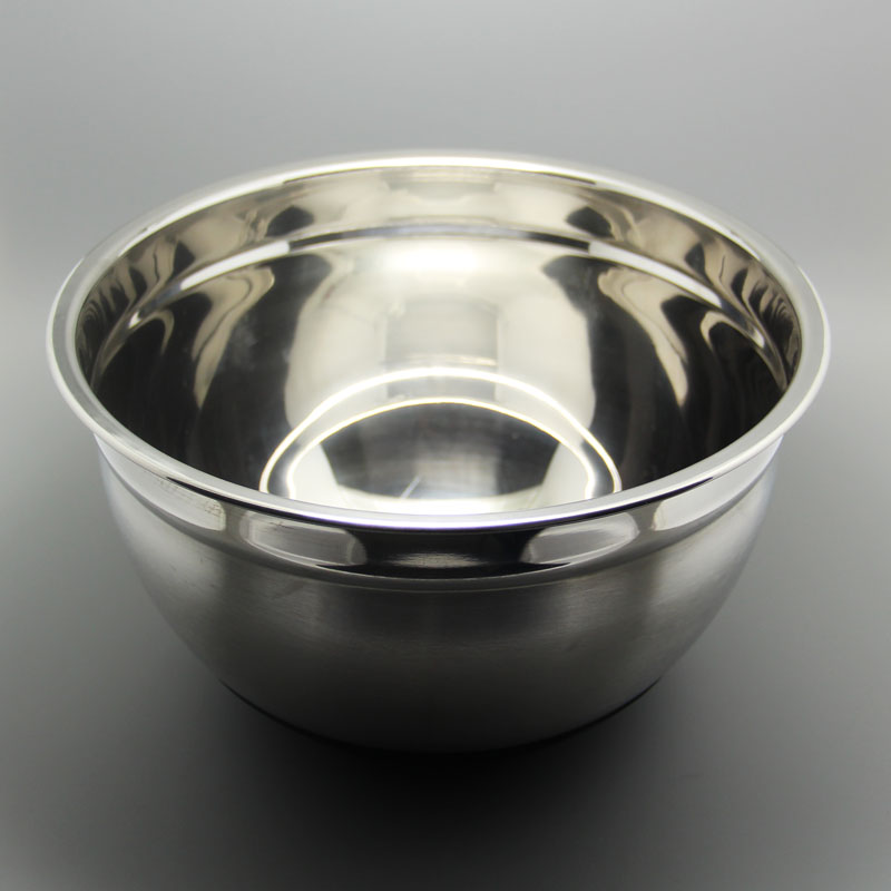 Baking tool 24cm stainless steel anti slip pan antiskid salad Basin mixing bowl