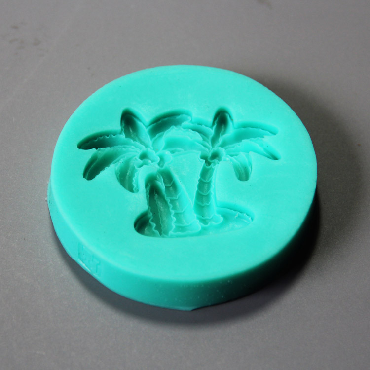 HB0852 Non stick silicone cake mold coconut tree shape for cake decoration