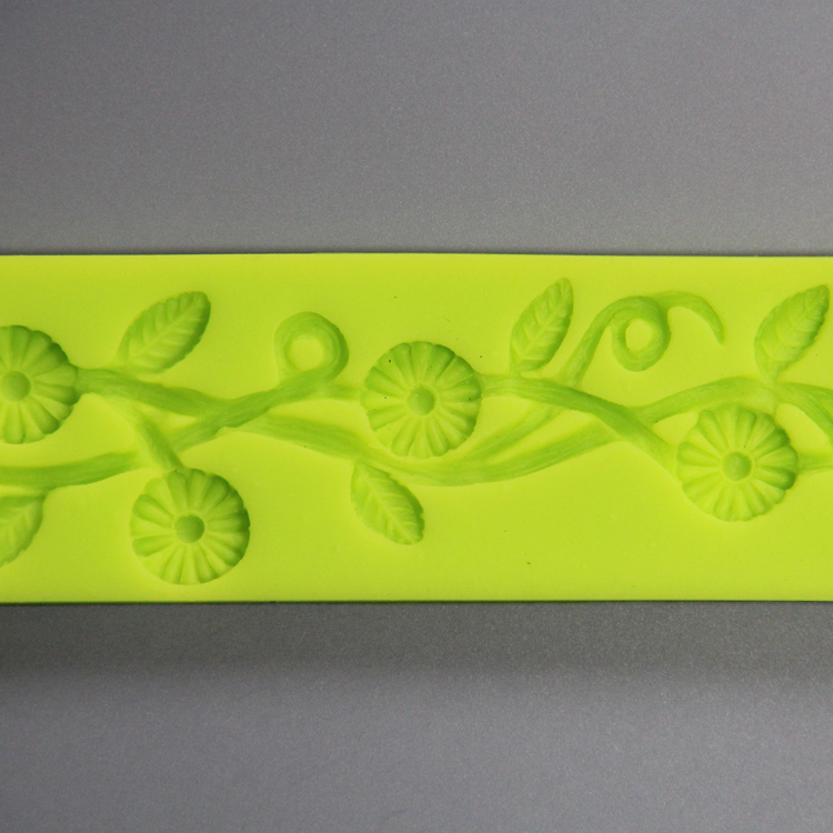 HB0811 3D non stick sugarcraft silicone mold for cake fondant decorating high temperature resistant