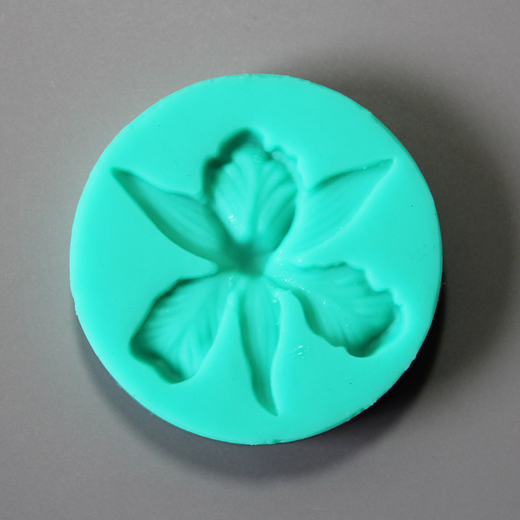 HB0856 Small Lotus silicone mold for cake fondant decoration