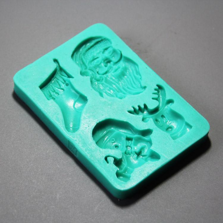 HB0869 Christmas theme silicone mold for kae fondant decoration