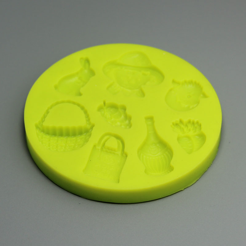 HB0634 Helloween Gift Silicone Fondant Mold,Silicone Cake Fondant Mold