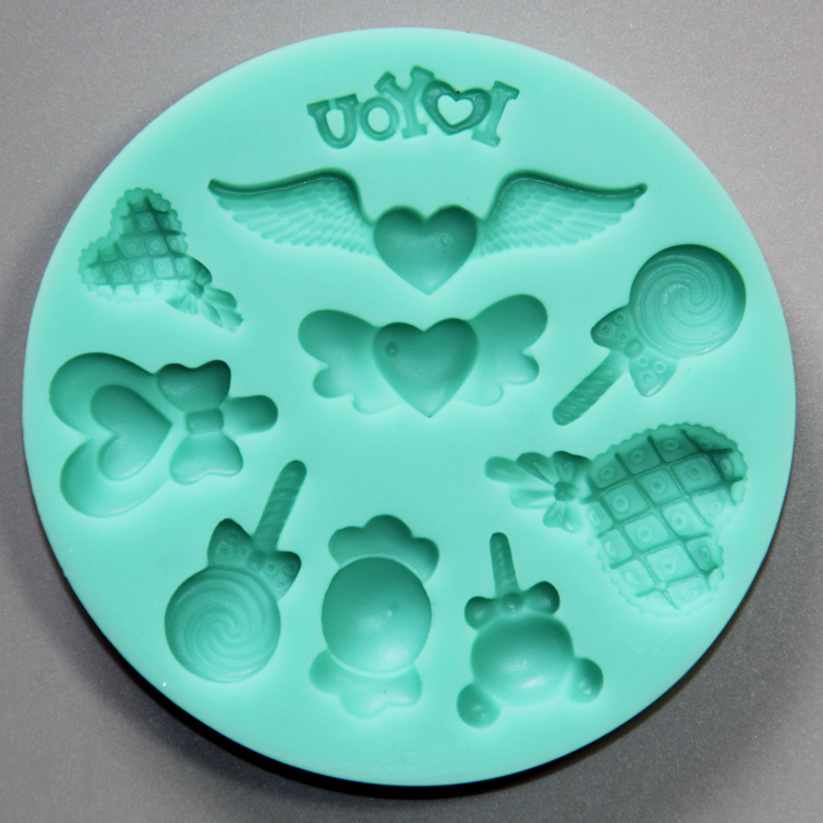"HB0796  ""I love you"" silicone mold for cake fondant decorating"
