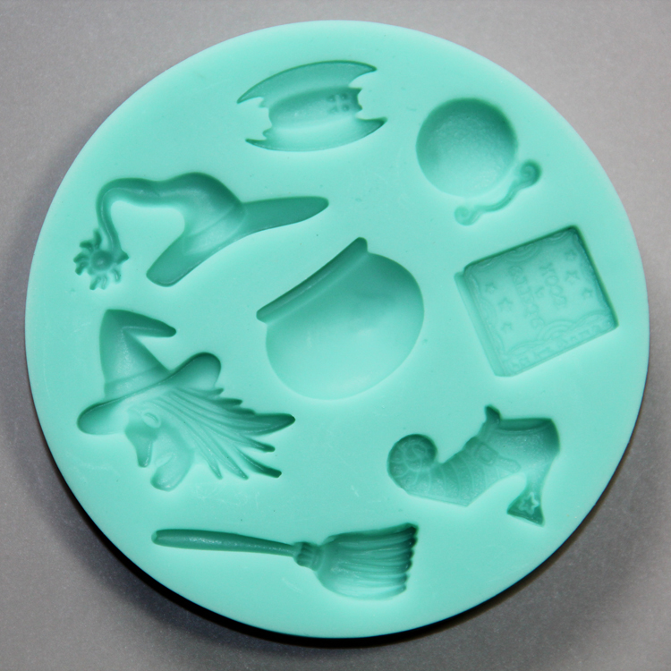HB0795 Hallowen theme silicone mold for cake fondant decorating