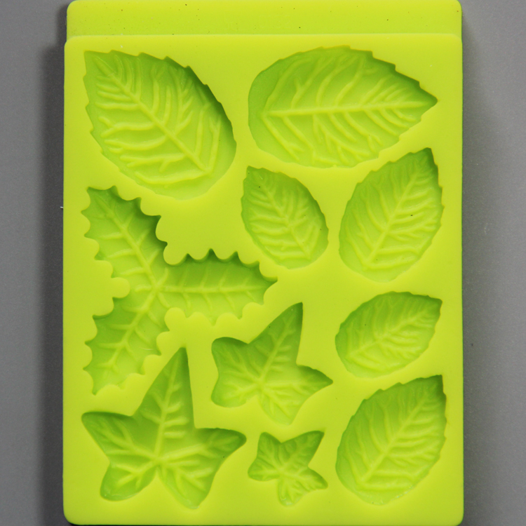 HB0792 Leaves silicone mold for cake fondant decorating