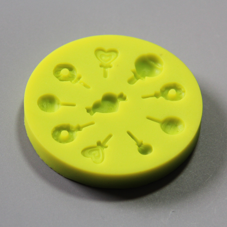HB0806 lollipop silicone mold for cake fondant decorating