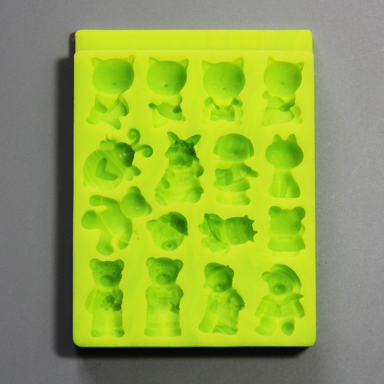 HB0785 Toys silicone mold for cake fondant decorating