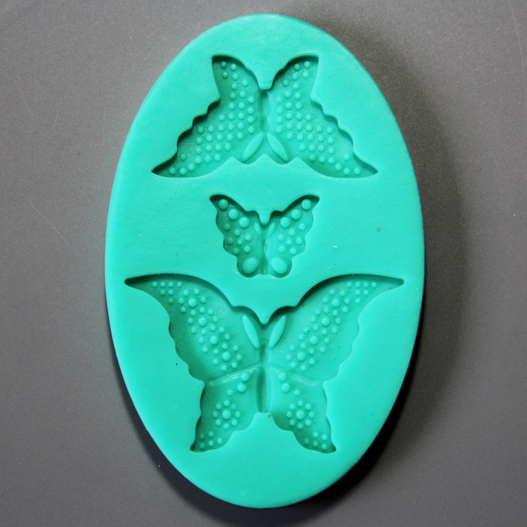 HB0903 Butterfly silicone mold for cake fondant decoration