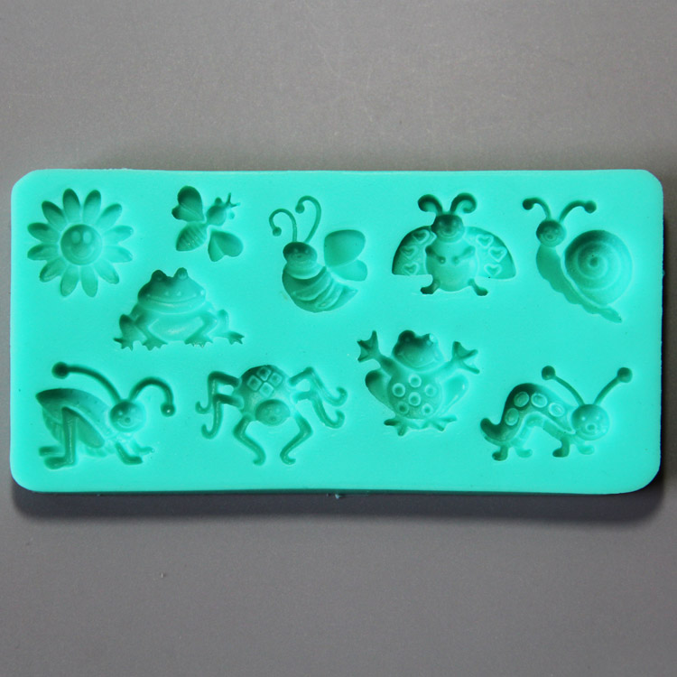 HB0873 Insects silicone fondant mold,Silicone Cake Fondant Mold