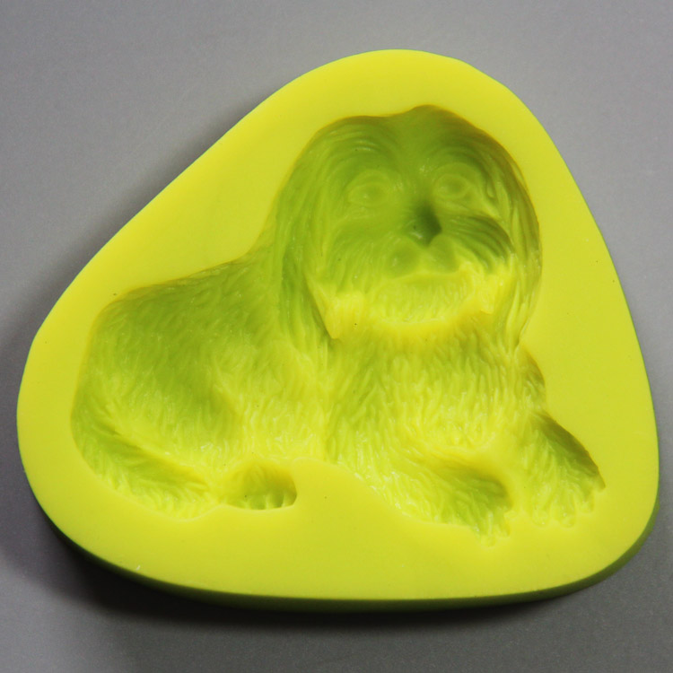 HB0831 Tibetan Mastiff silicone mold for cake fondant decoration