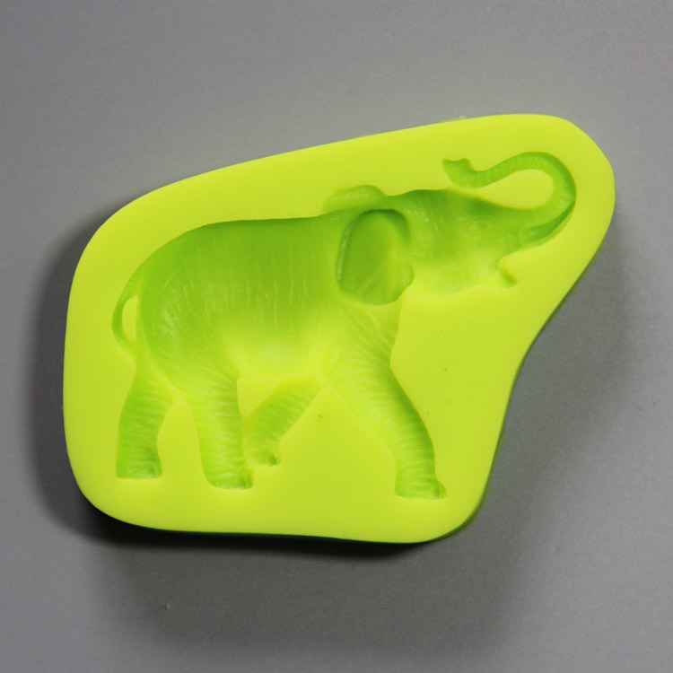 HB0830  Elephant silicone mold for cake fondant decoration