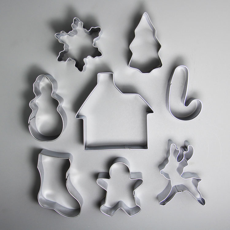 HB0980 stainless steel christmas theme cookie cutter set