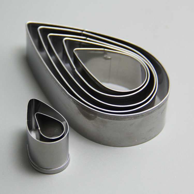 HB0959 7pcs stainless steel leaf cake cutter for cake decoration