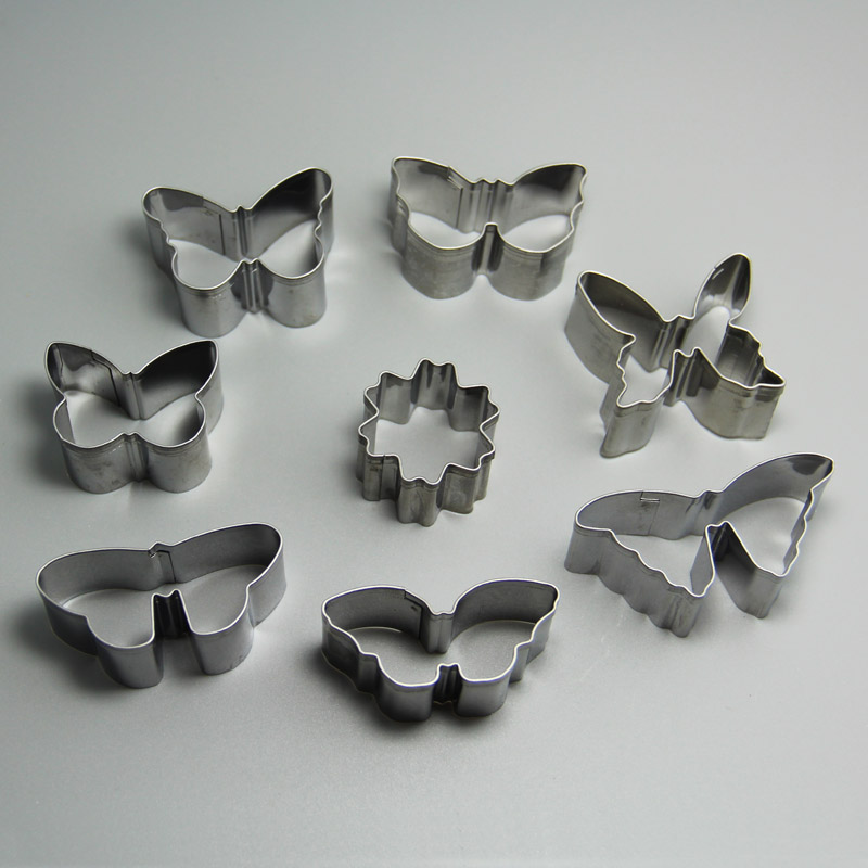 HB0217 10pcs Butterfly Shape cookie cutters/mold set