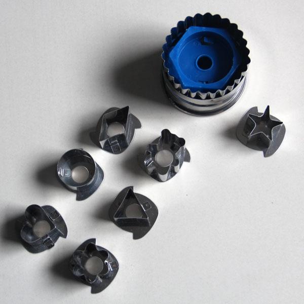 HB0435 Metal 7pcs Punch Cookie Cutter Set Fondant Decoration