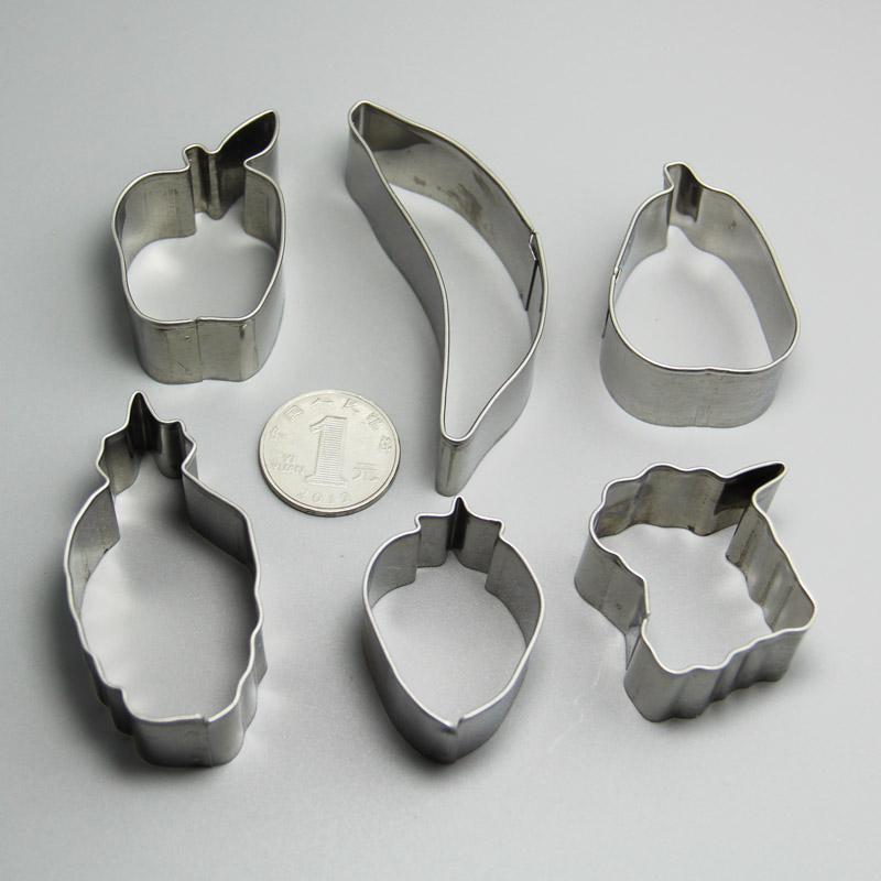 HB0219 Metal 6pcs Fruit Shaped cookie cutter