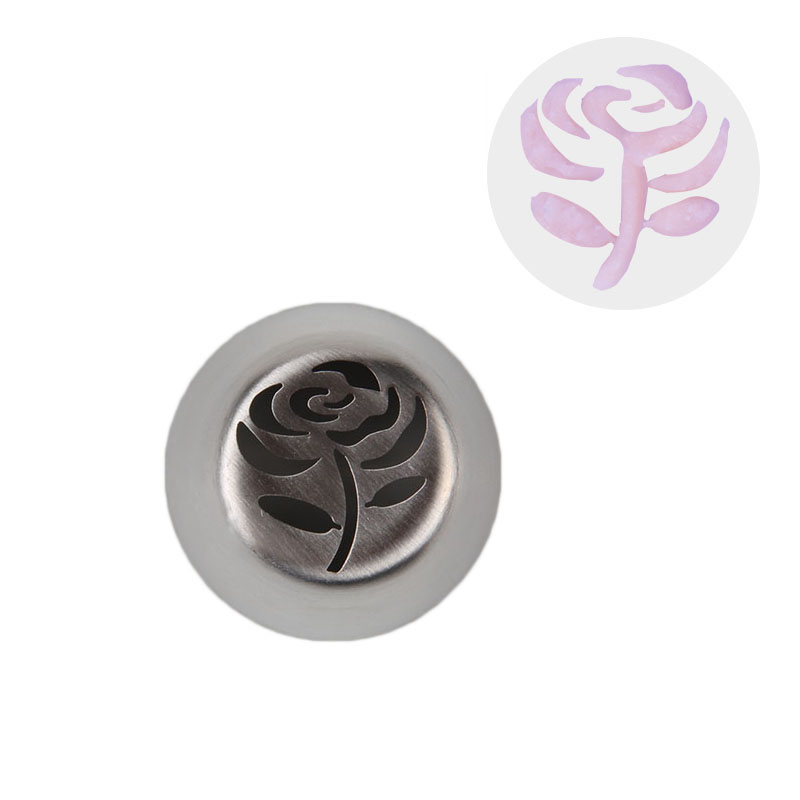 HBVD004 New Valentine's Day Theme Stainless Steel Cake Decorating Nozzle-Rose Flower Design