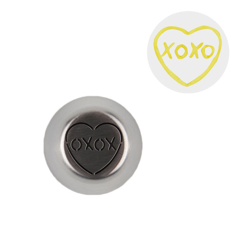 HBVD0020 New Valentine's Day Theme Stainless Steel Cake Decorating Nozzle-XOXO Design
