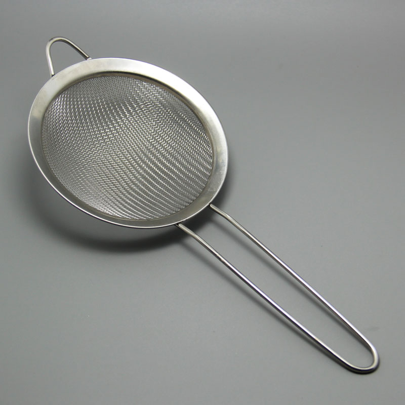 stainless steel hand flour filter sieve icing sugar bucket cocoa powder sieve baking tool