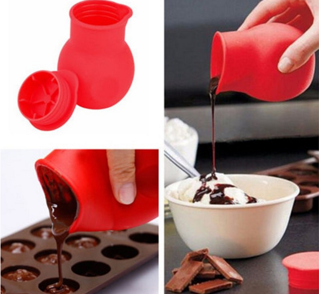 high quality Silicone chocolate melting pot icing cake fondant decoration baking tool