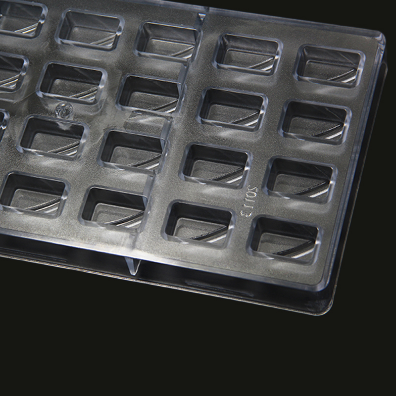 CC0017 Polycarbonate Wave Shape Chocolate Mould DIY Baking Mold