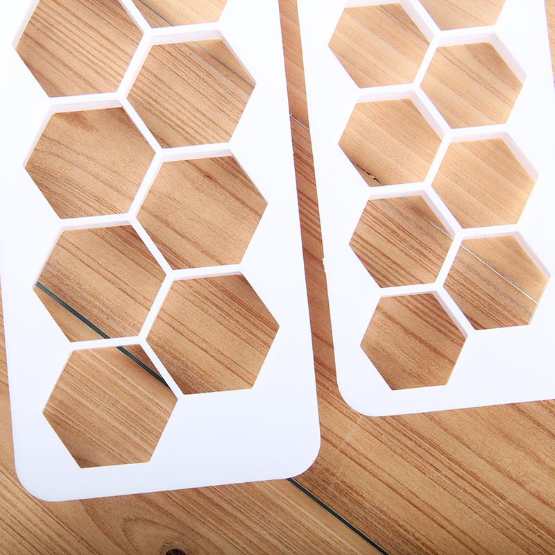 HB0177B Plastic 3pcs hexagon fondant embosser set