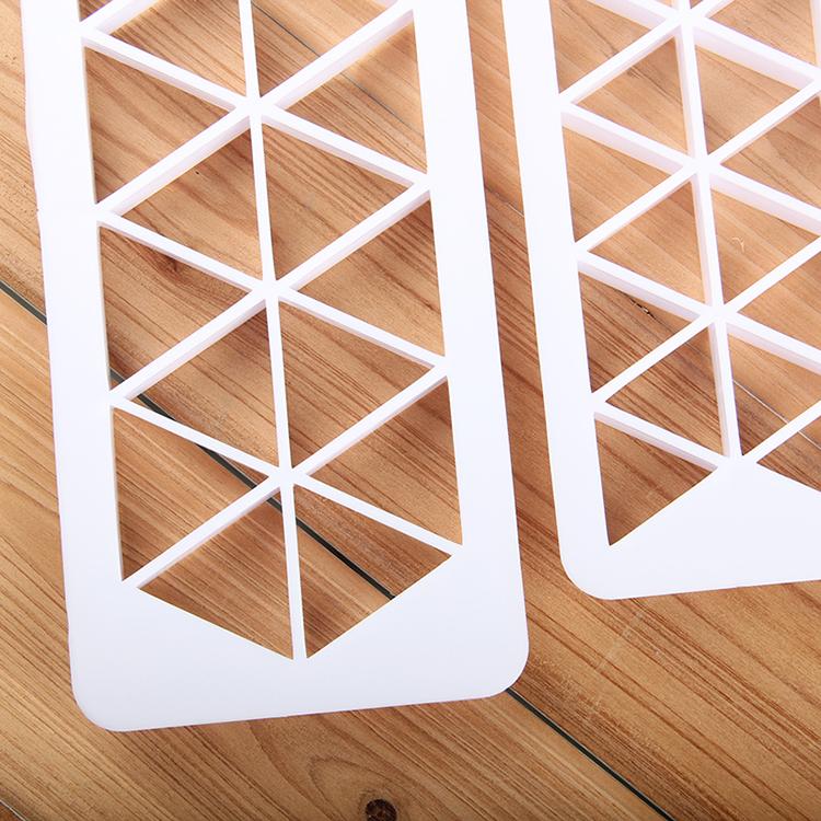 HB0177C Plastic 3pcs Equilateral triangle fondant embosser set