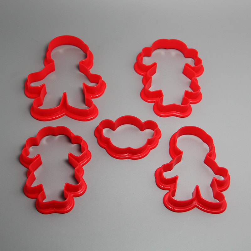 HB0199 5pcs Plastic Boys&Girls Shape cookie cutters fondnant sugar tools