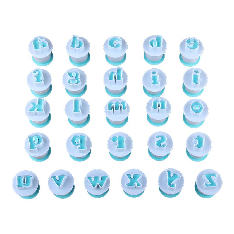 HB0215A New Plastic 26pcs Lowercase Cake Fondant Press Cutters set