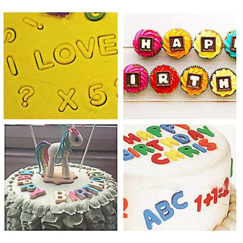HB0215B New Plastic 26pcs Uppercase Cake Fondant Press Cutters set