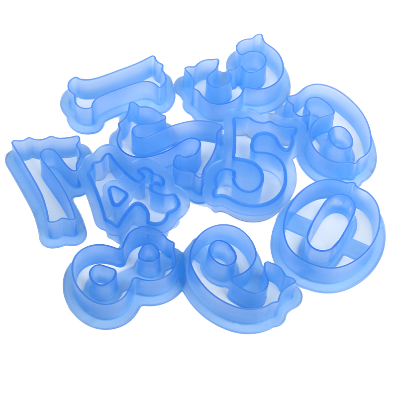 HB0216D Plastic New Design 10pcs Numbers cookie stamps set