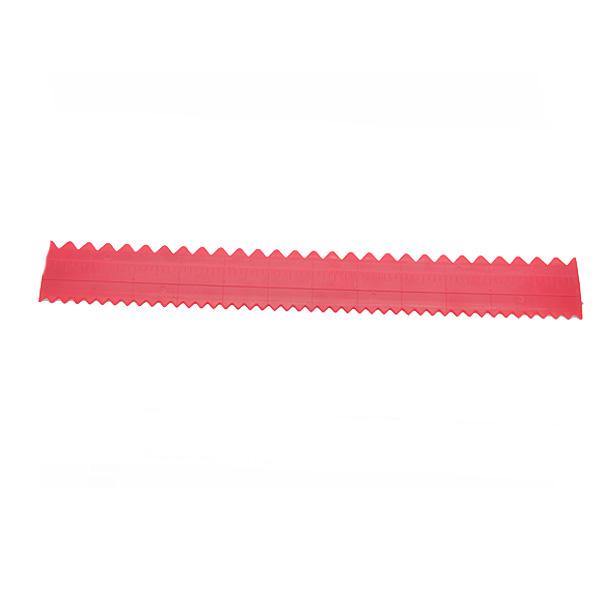 HB0259 plastic straight scale cake scraper in red plastic scraper cake decoration tool