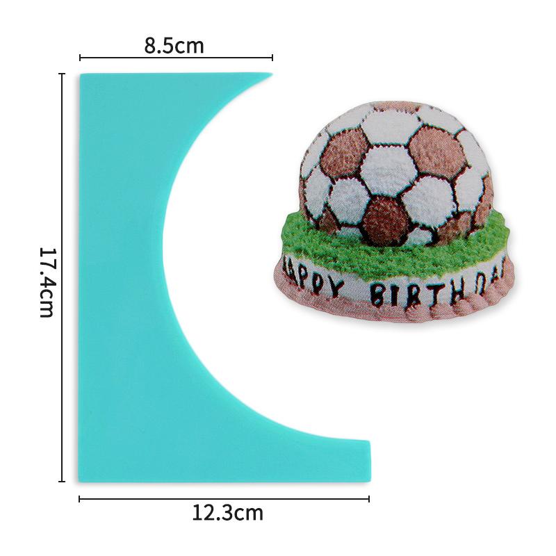 HB0266C Plastic Round Shape Cake Scraper