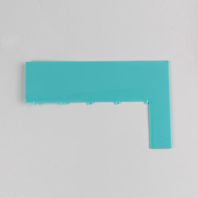 HB0266D Plastic Vertical Serrated Layered Cake Scraper(4 layers)