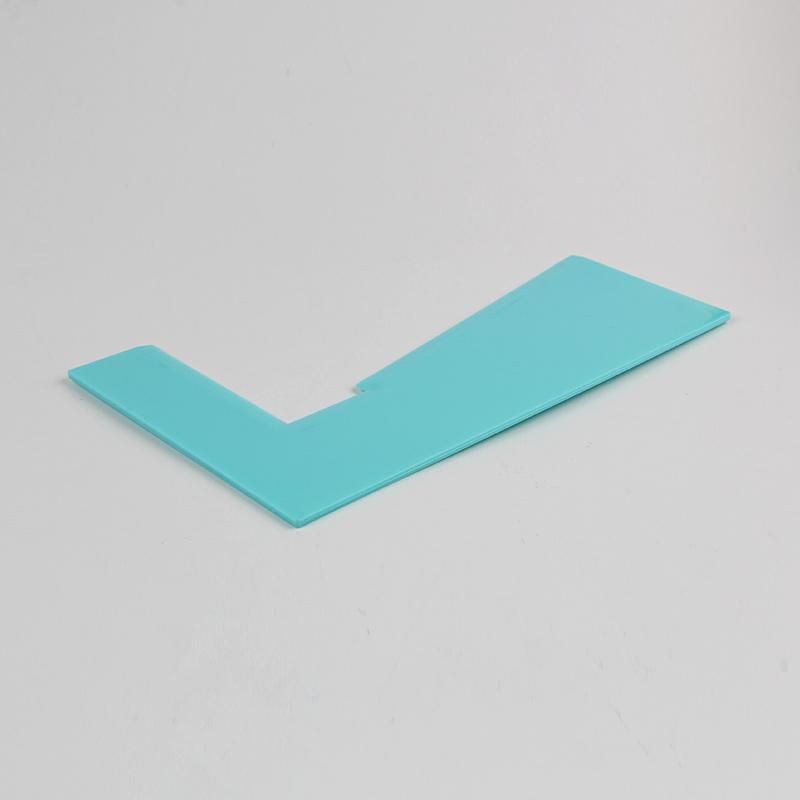 HB0266H Plastic Trapezoidal Cake Scraper
