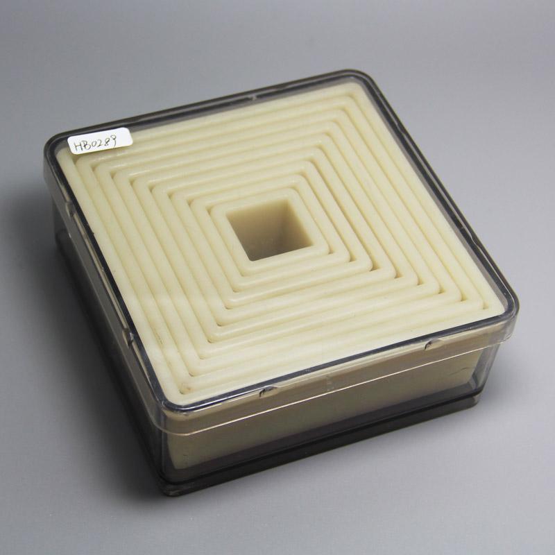 HB0289 9pcs Nylon Square-shape shape cutters with fluted edge,Cake Mold