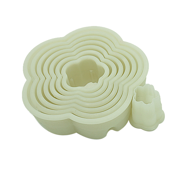 HB0292 8pcs flower shape cutters with plain edge Biscuit mold