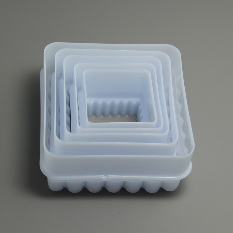 HB0303 Square Twist Pattern Food Cutter and Mold cookie cutters set