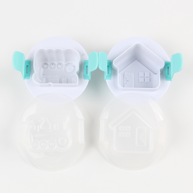 HB0310B Plastic House&TrainShape Fondant Chocolate Eggs Multifunction Pressing Mold