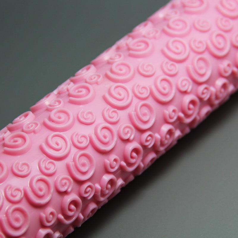 HB0331F Plastic Purple Spiral Pattern Fondant Rolling Pin