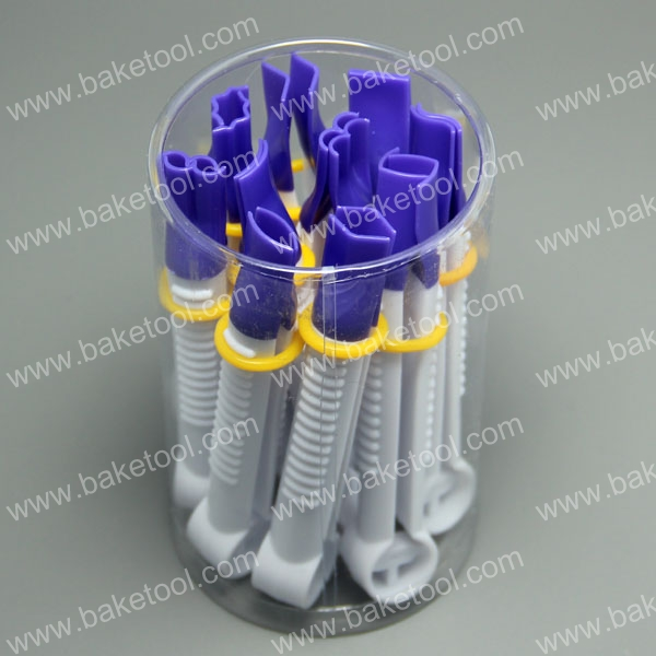 HB0351A   10pcs small size purple color clipper of variety shape box set without teeth