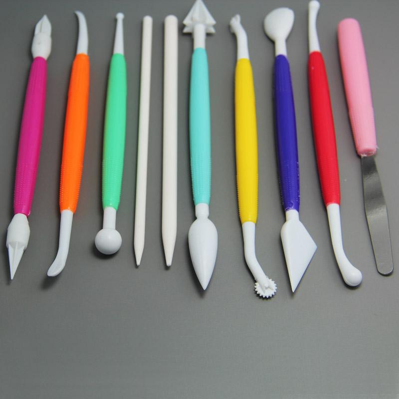 HB0359 10 pcs Cake Moddelling Tool Set fondant tools baking tools set