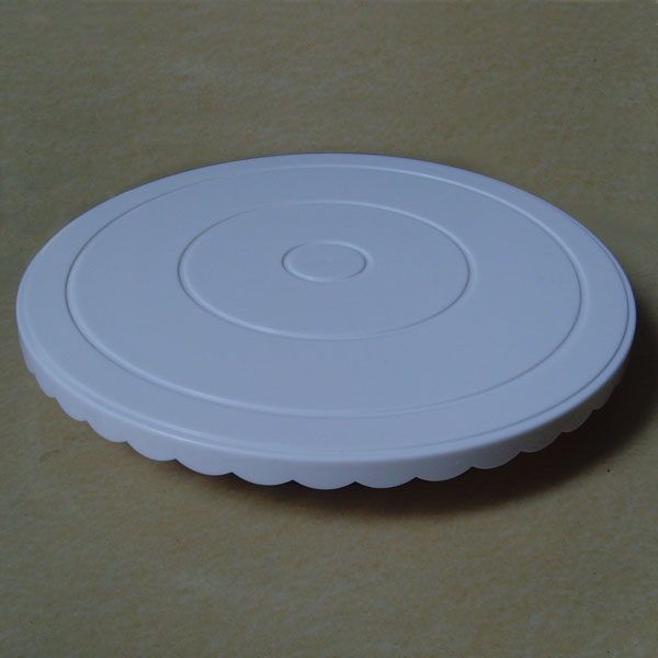"HB0364  Plastic 11.5x2"" Cake Turntable Rotating Stand"