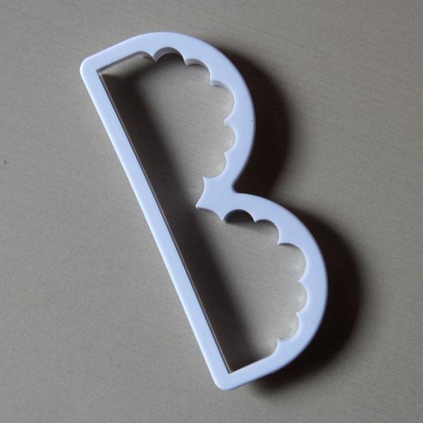 HB0460 plastic Letter B Fondant & Gum Paste Mold fondant embosser
