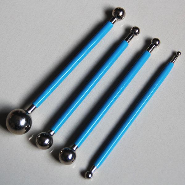 HB0478 4pcs Ball Modelling Fondant Tools set fondant tool