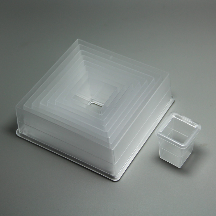 HB0504 nylon square 9 count pastry&cookie cutter set