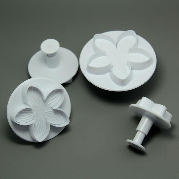 HB0531 4pcs Different Size Flower Cake Fondant Mold set
