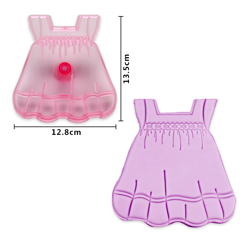 HB0562A Plastic Child Dress Shape Cake Fondant Mold