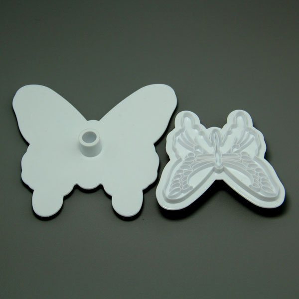 HB0567 Plasrtic 2pcs Butterfly Shape Cake Fondant Press Mold set