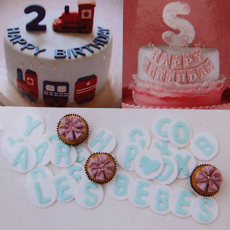 2017 New 88pcs  Plastic Alphabet Letter Symbol Number Cookie Stamp Press Cake Cookie Cutters Set